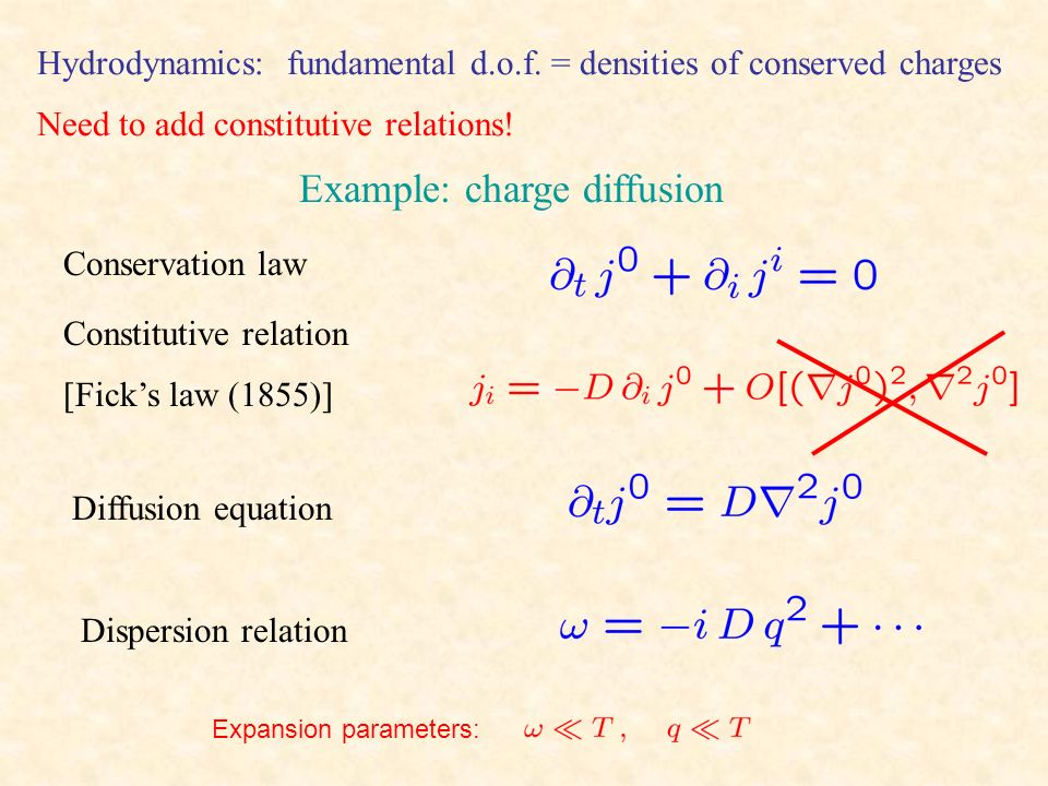 Example: charge diffusion