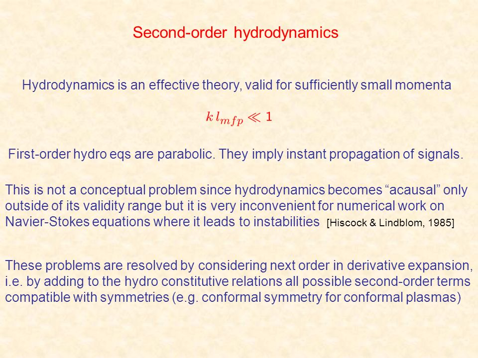 Second-order hydrodynamics