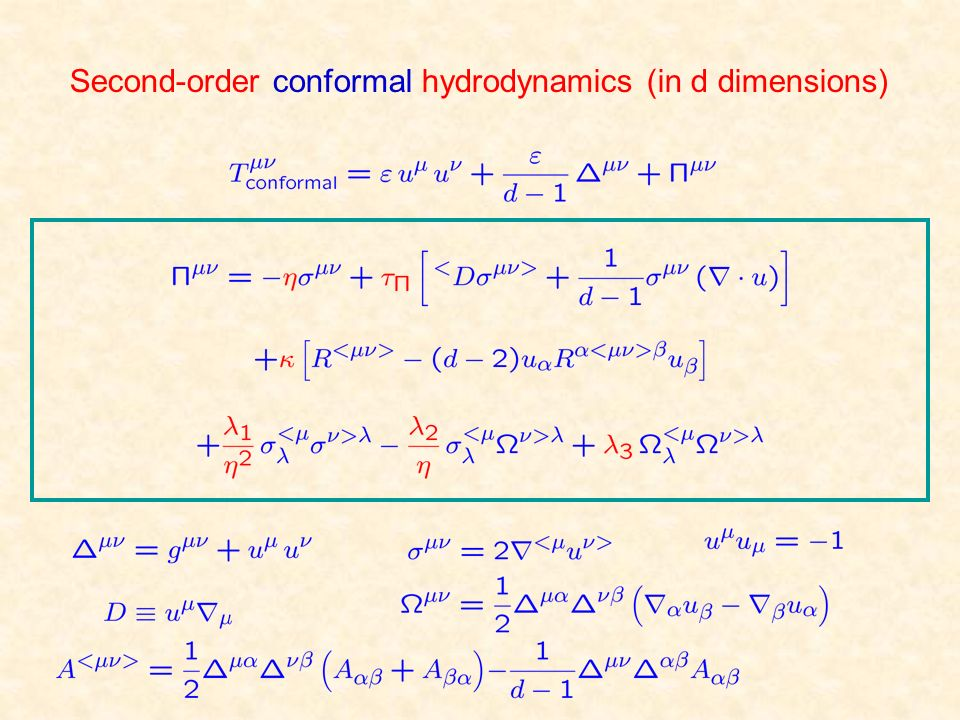 Second-order conformal hydrodynamics (in d dimensions)