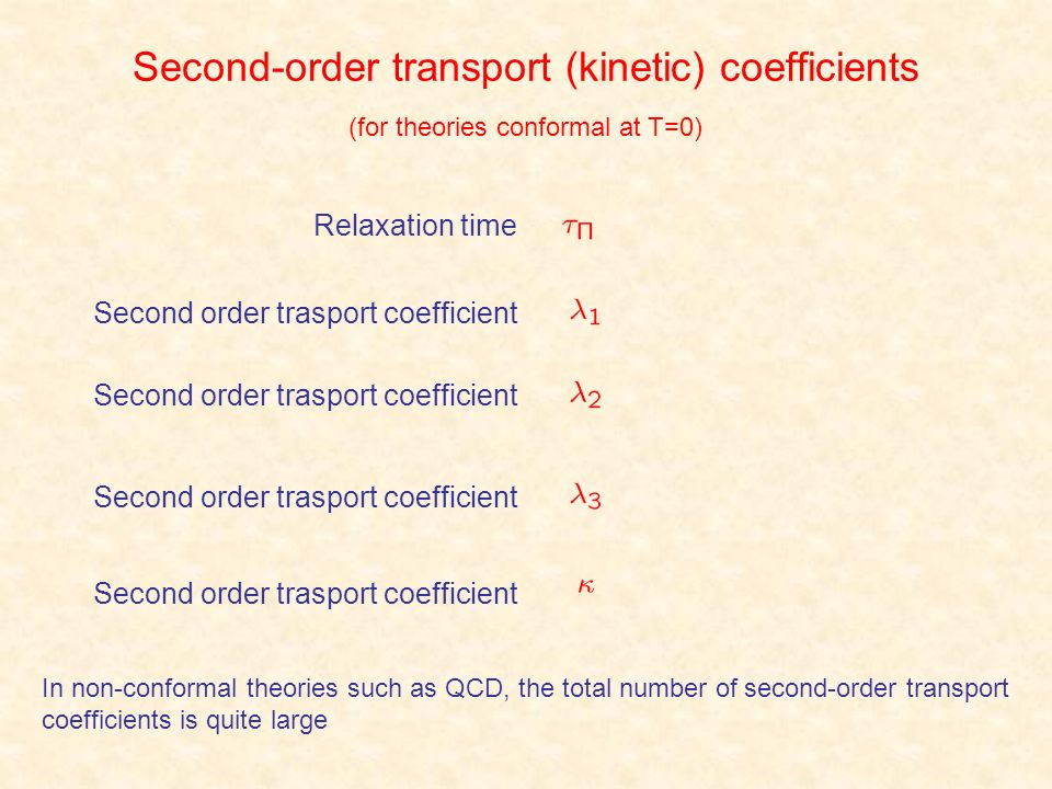 Second-order transport (kinetic) coefficients