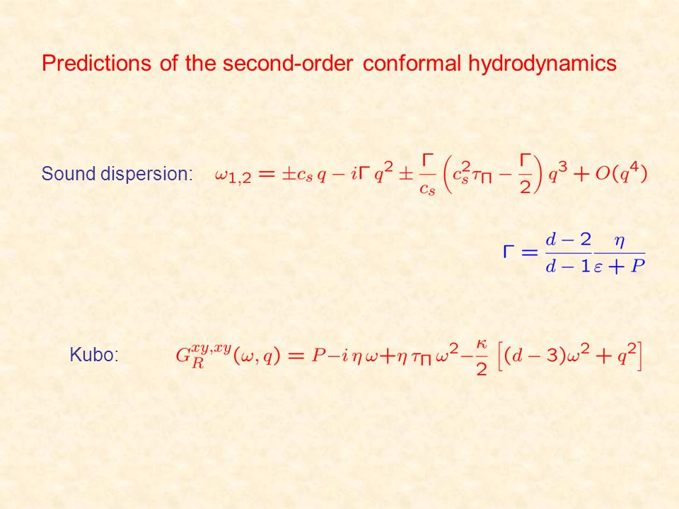 Predictions of the second-order conformal hydrodynamics