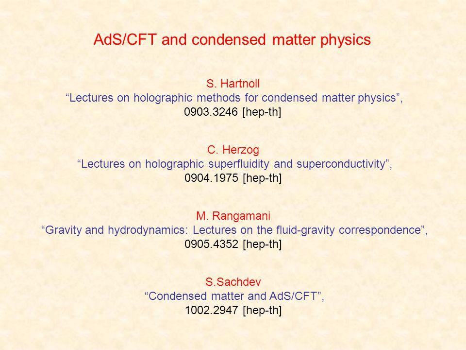 AdS/CFT and condensed matter physics