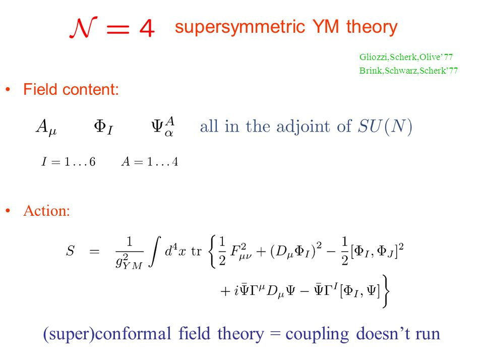 (super)conformal field theory = coupling doesn't run