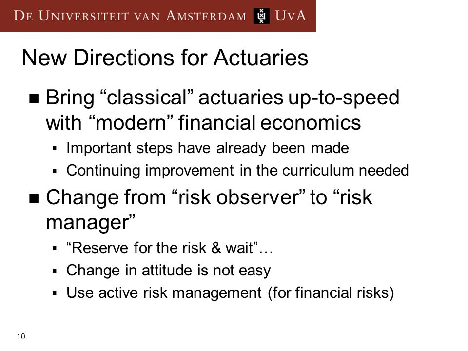New Directions for Actuaries