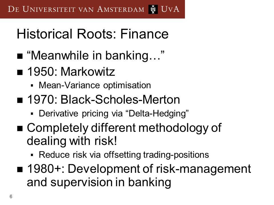 Historical Roots: Finance
