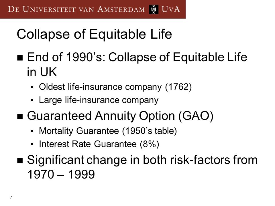 Collapse of Equitable Life