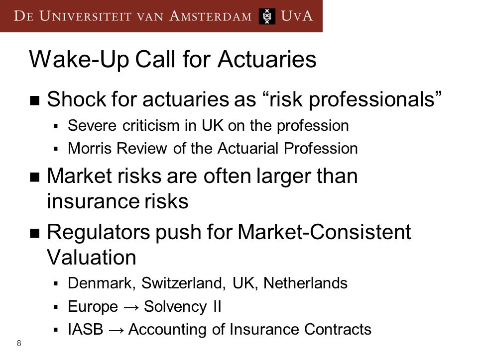 Wake-Up Call for Actuaries