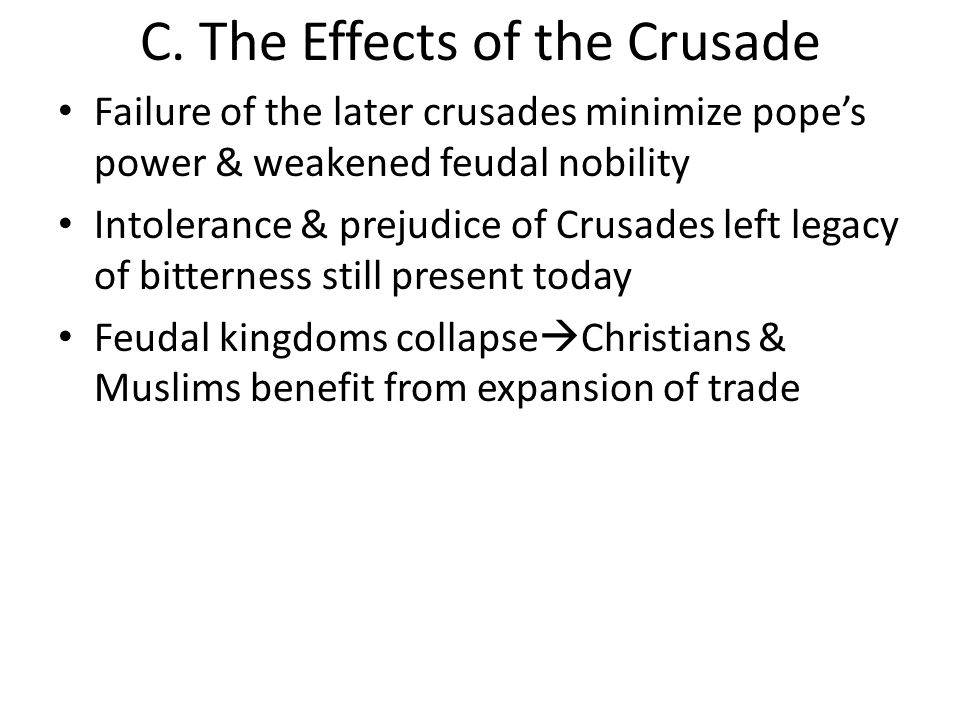 long term affects of the crusades Alcohol addiction can have major long term effects on the body and the brain learn more about the devastating damage alcohol can leave.