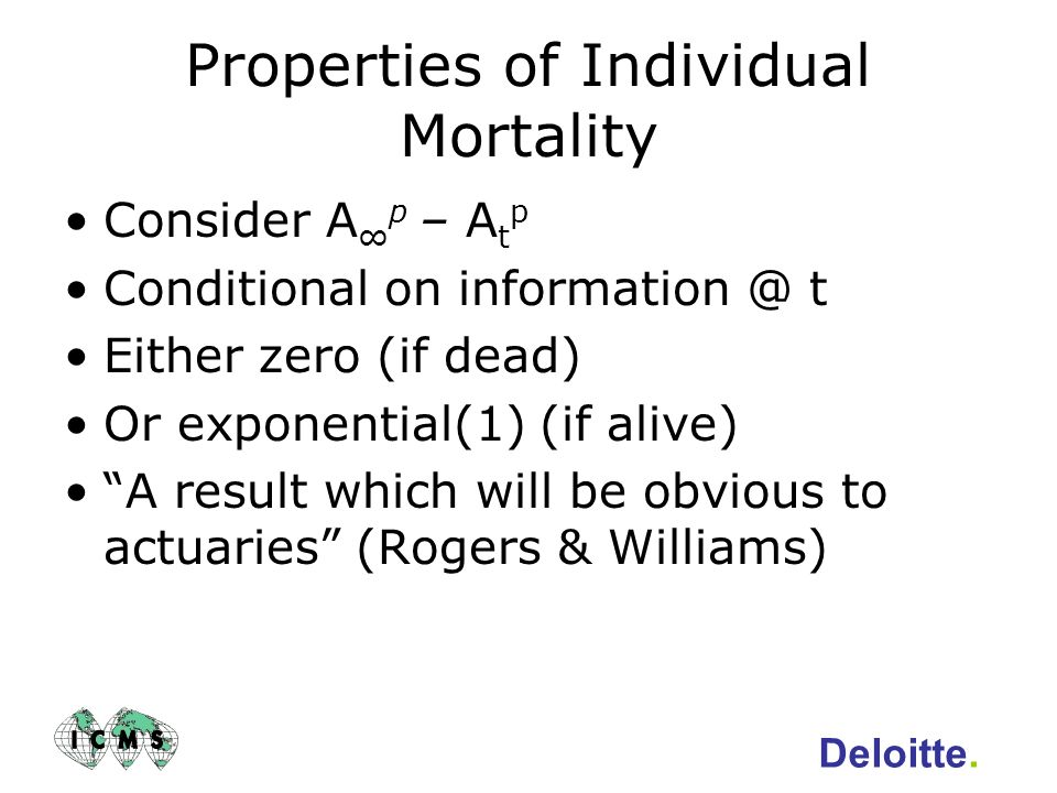 Properties of Individual Mortality