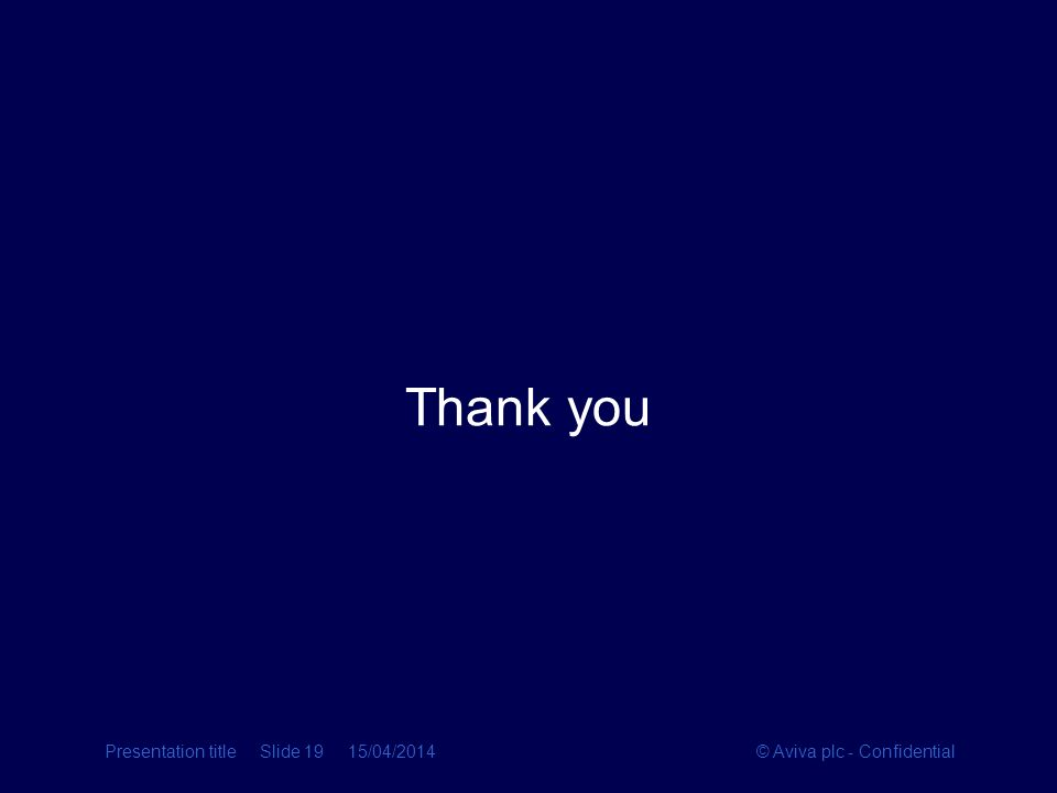 Thank you Presentation title Slide 19 28/03/2017