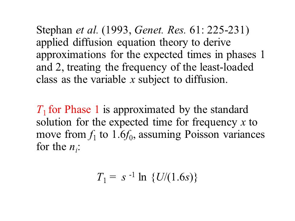 Stephan et al. (1993, Genet. Res