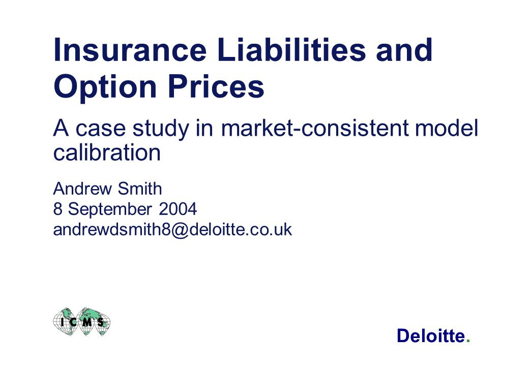 Insurance Liabilities and Option Prices