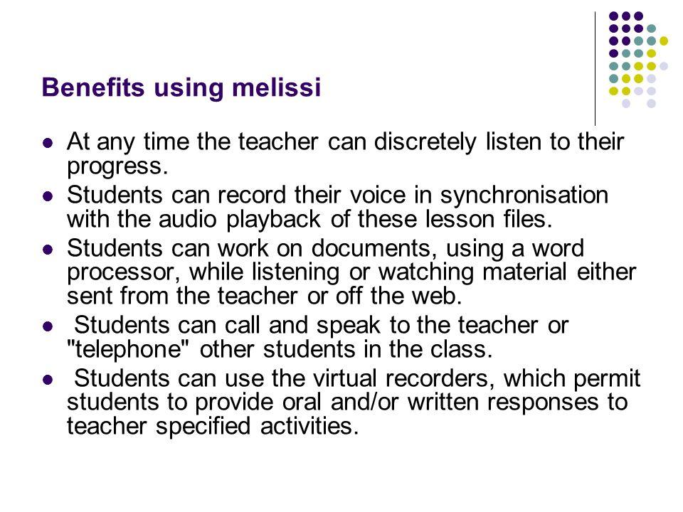 Benefits using melissi