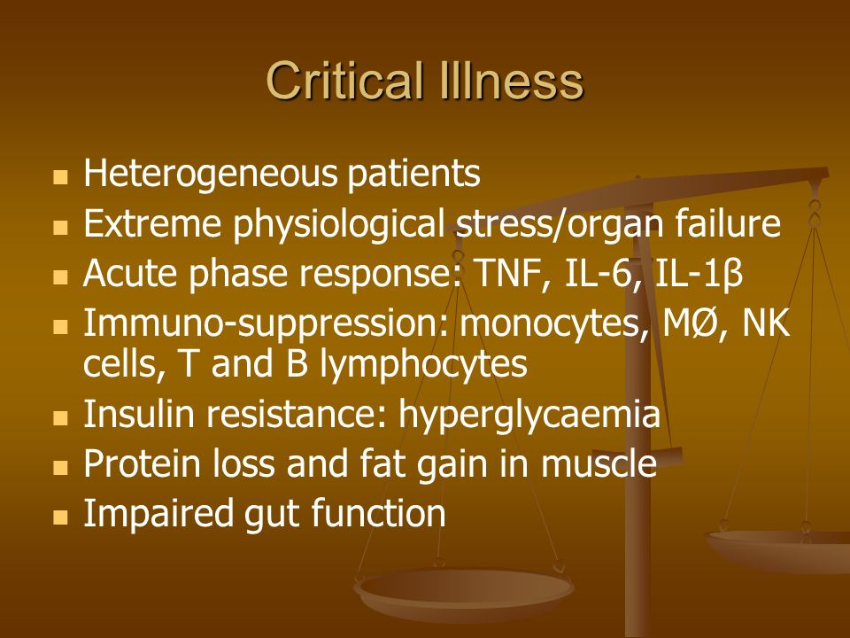 Critical Illness Heterogeneous patients