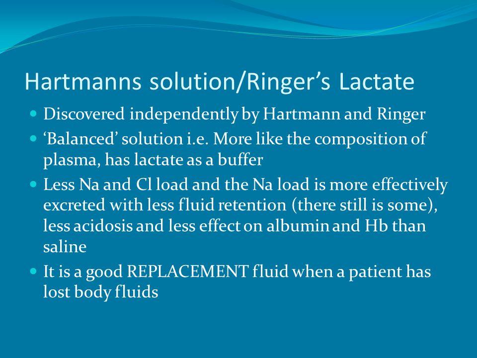 Hartmanns solution/Ringer's Lactate