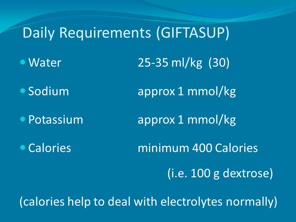 Daily Requirements (GIFTASUP)