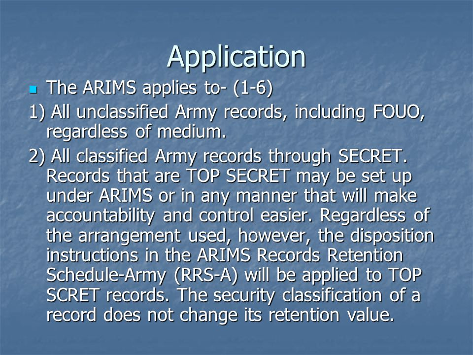 Army records information management system arims ppt video 5 application toneelgroepblik Images