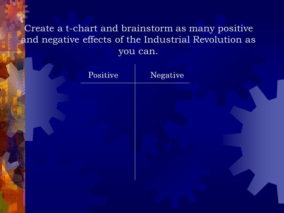 Name three positive and negative impacts the American Industrial Revolution had on the U.S.