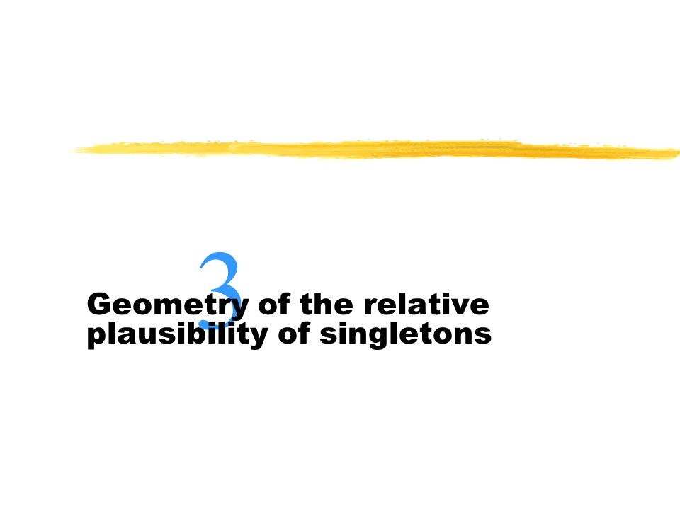 Geometry of the relative plausibility of singletons