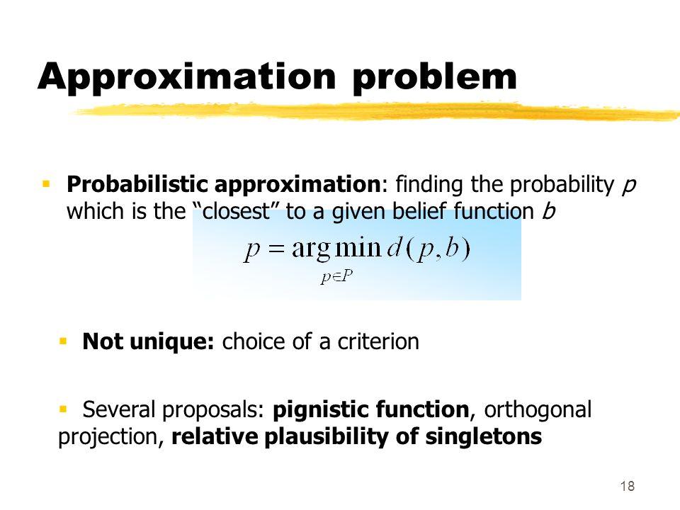 Approximation problem