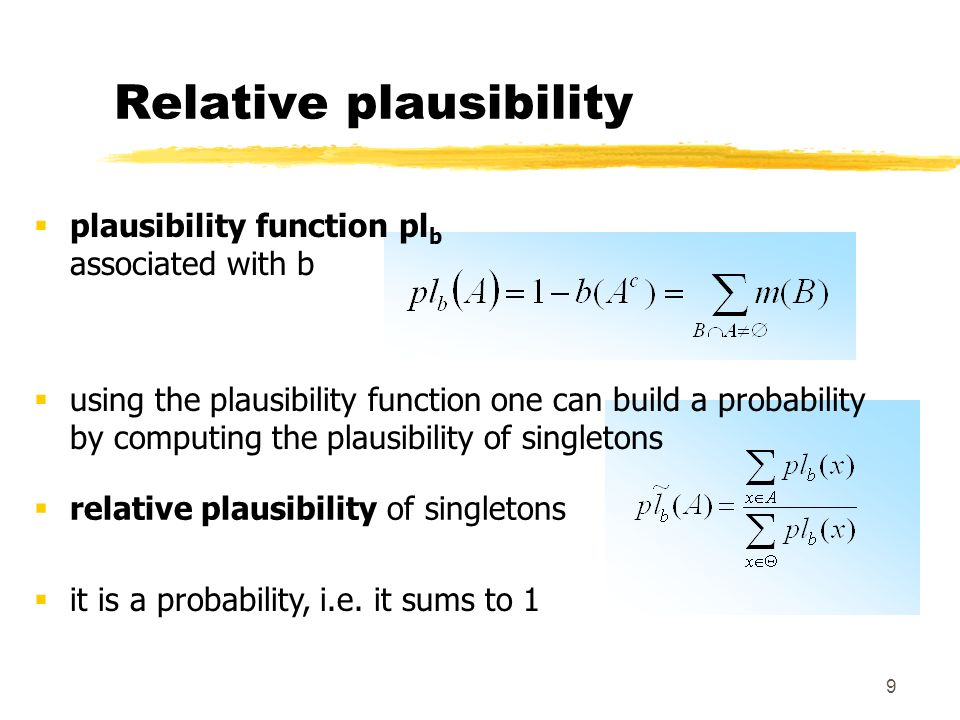 Relative plausibility
