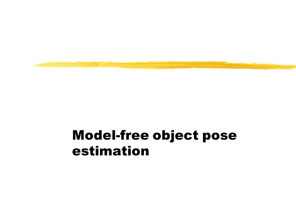 Model-free object pose estimation