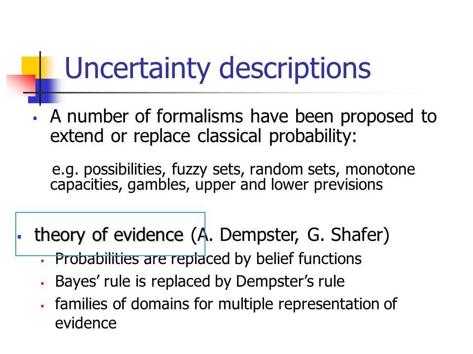 Uncertainty descriptions