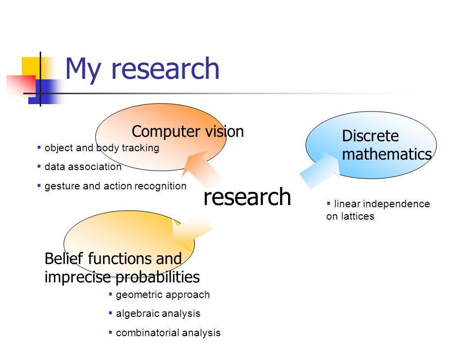 My research research Computer vision Discrete mathematics