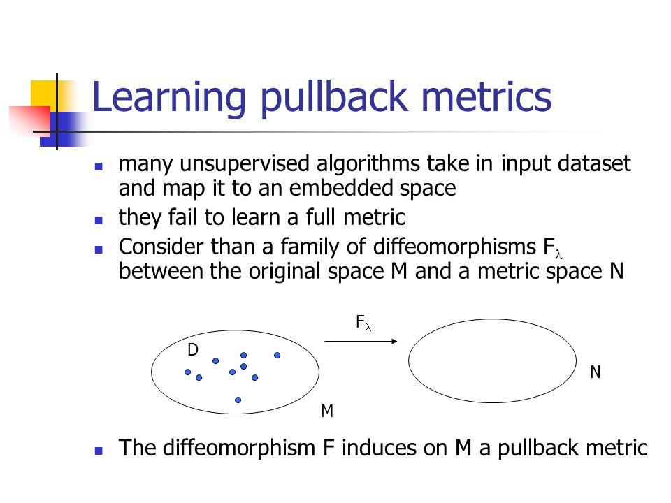 Learning pullback metrics