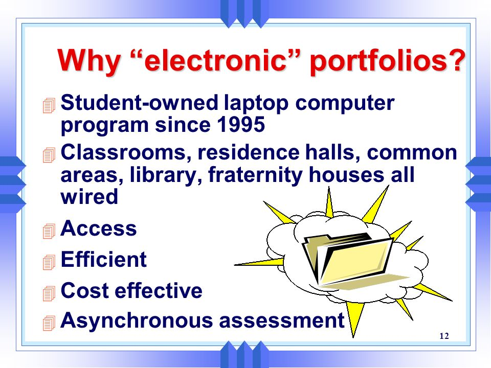 Why electronic portfolios
