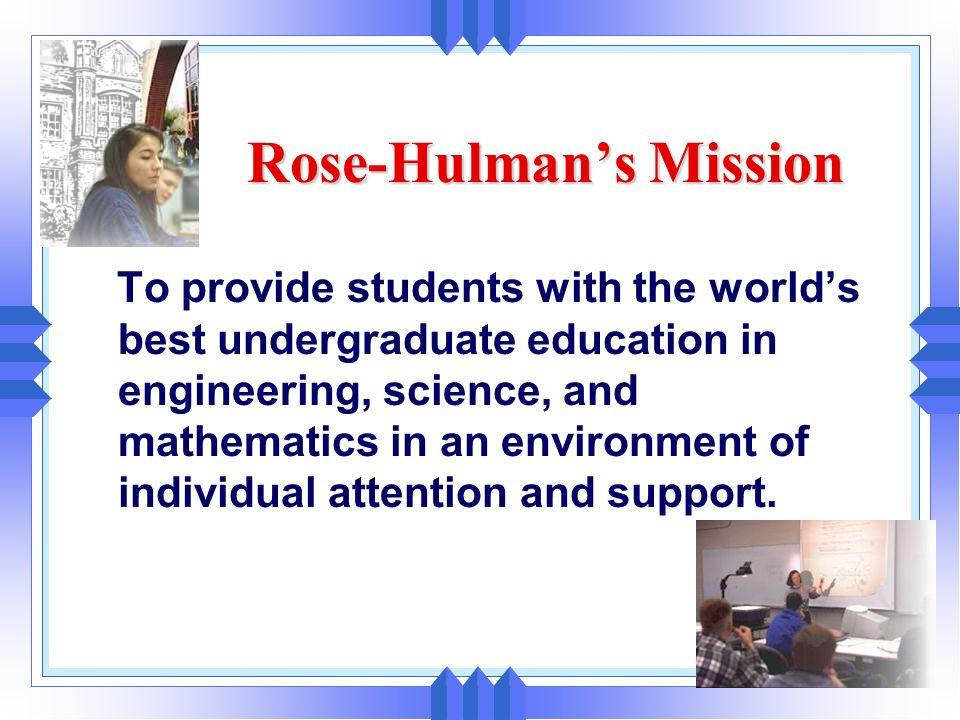 Rose-Hulman's Mission
