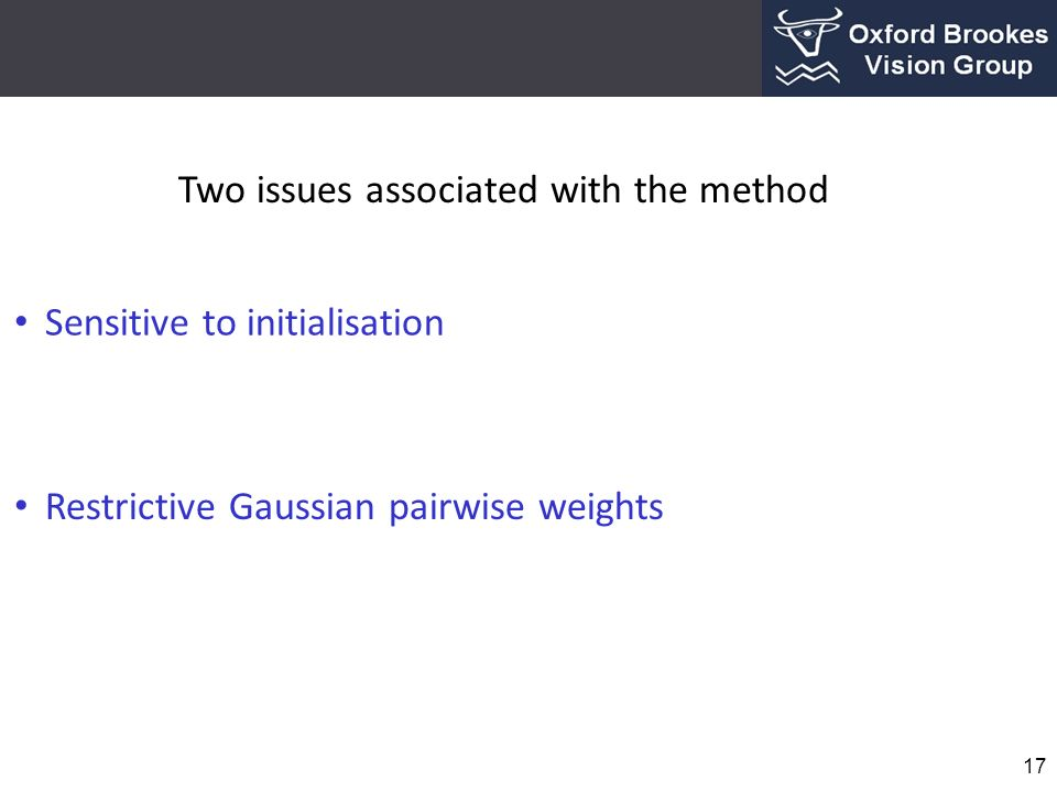 Two issues associated with the method