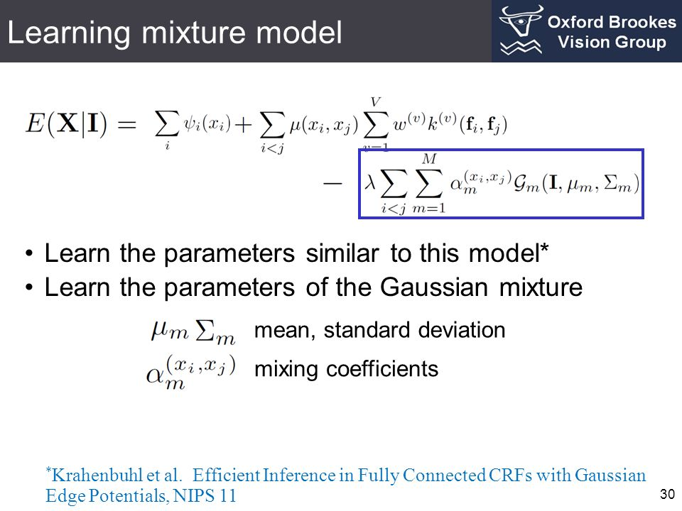 Learning mixture model
