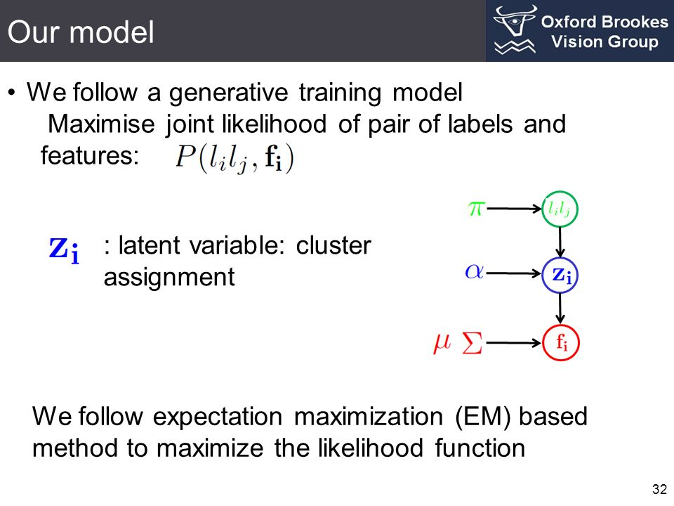 Our model We follow a generative training model