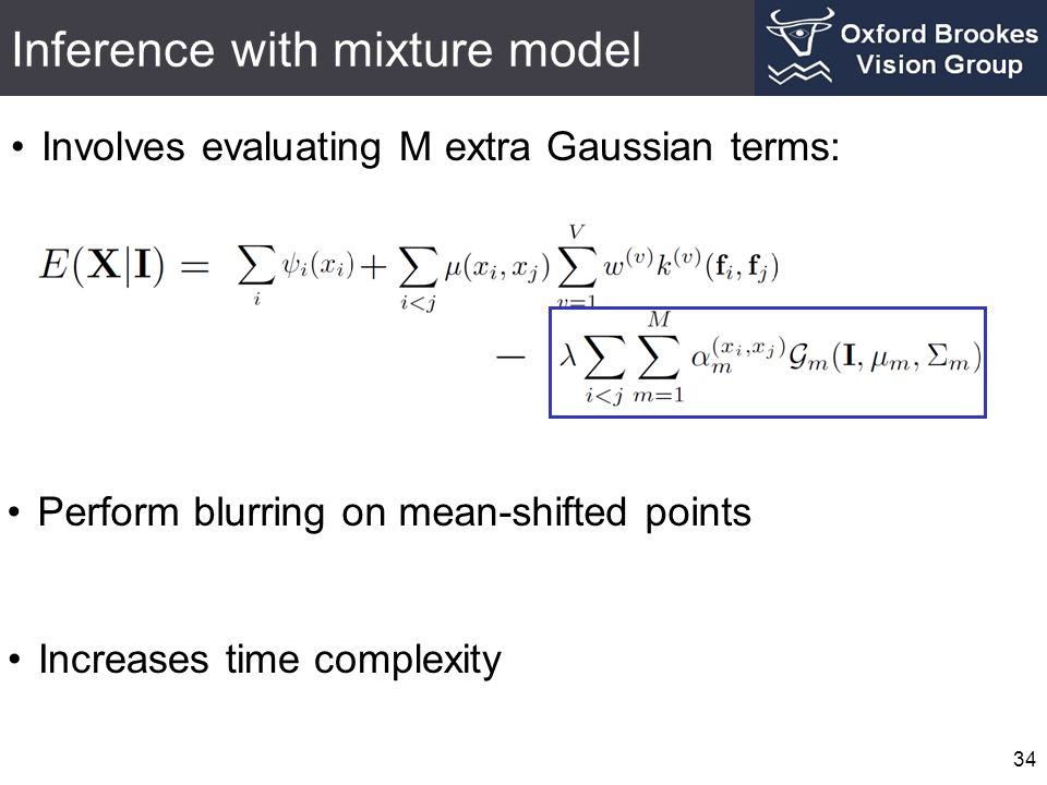Inference with mixture model