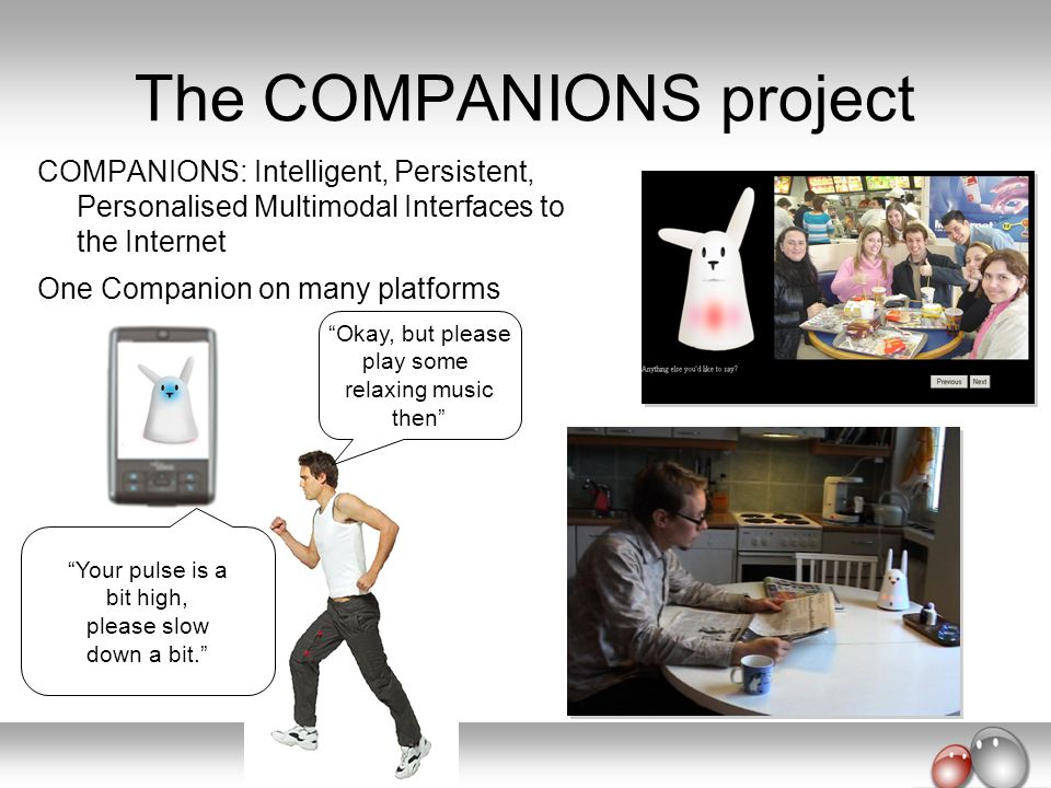 The COMPANIONS project