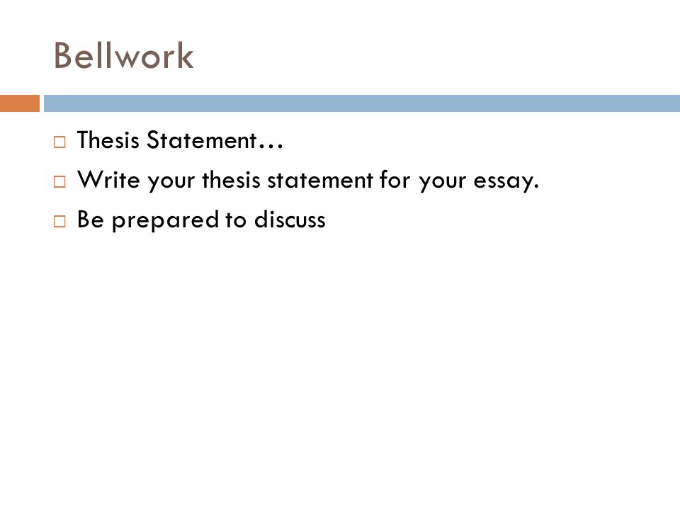 How to write your thesis ppt