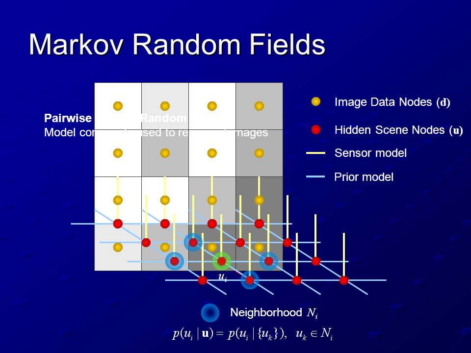 Markov Random Fields Image Data Nodes (d)