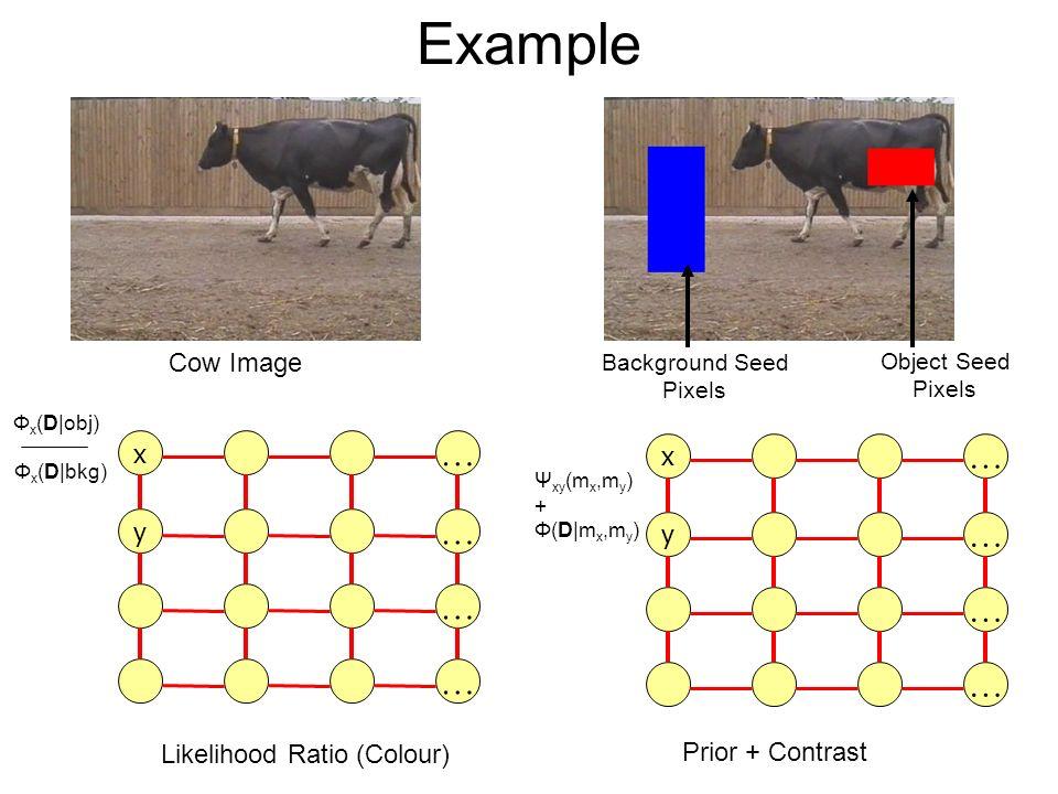 Example … … … … … … … … Cow Image x x y y Likelihood Ratio (Colour)