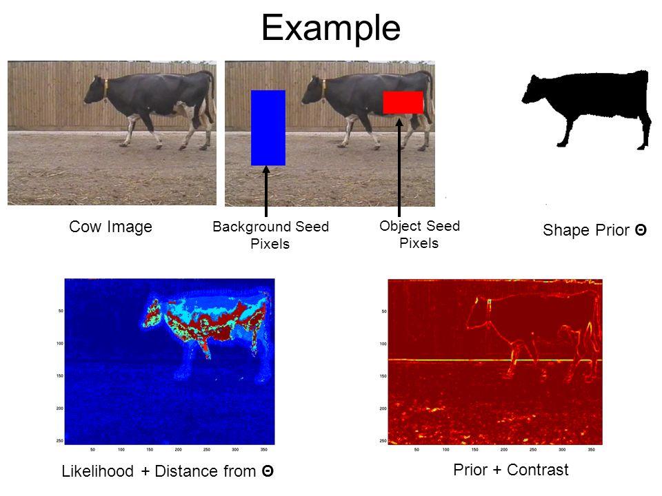 Example Cow Image Shape Prior Θ Likelihood + Distance from Θ