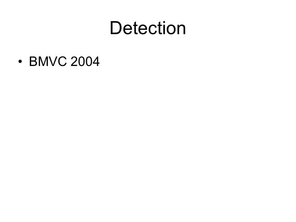 Detection BMVC 2004
