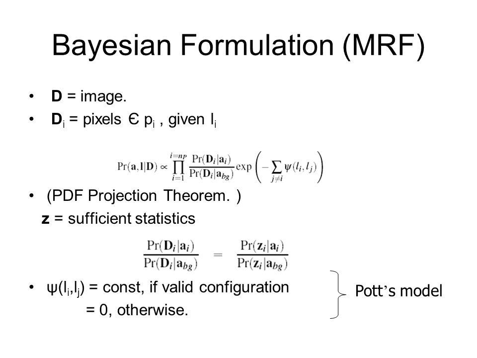 Bayesian Formulation (MRF)