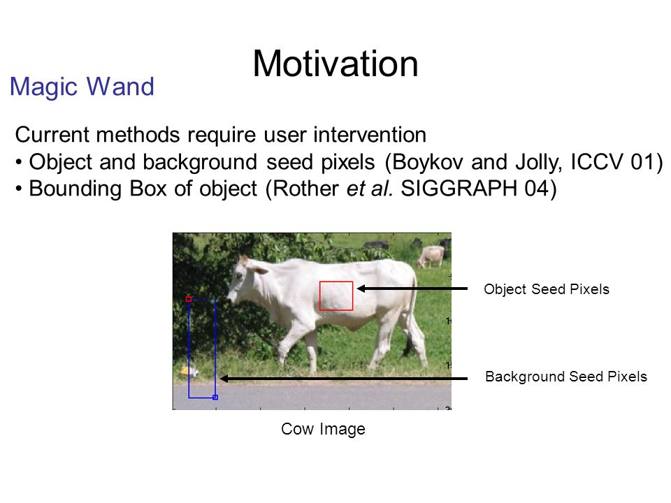Motivation Magic Wand Current methods require user intervention