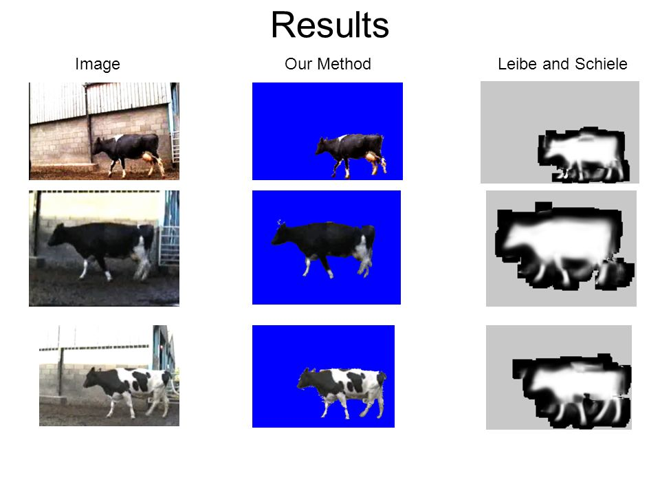 Results Image Our Method Leibe and Schiele