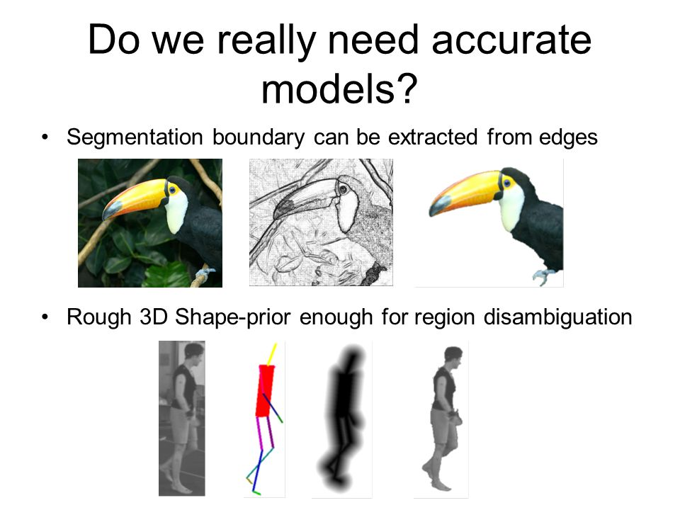 Do we really need accurate models