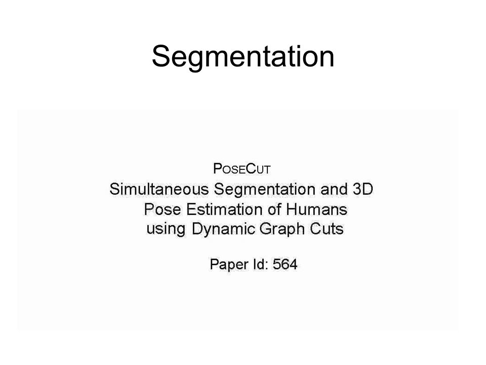 Segmentation Get rid of the ids and not the ideas