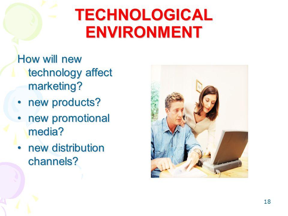 technological factors affecting marketing