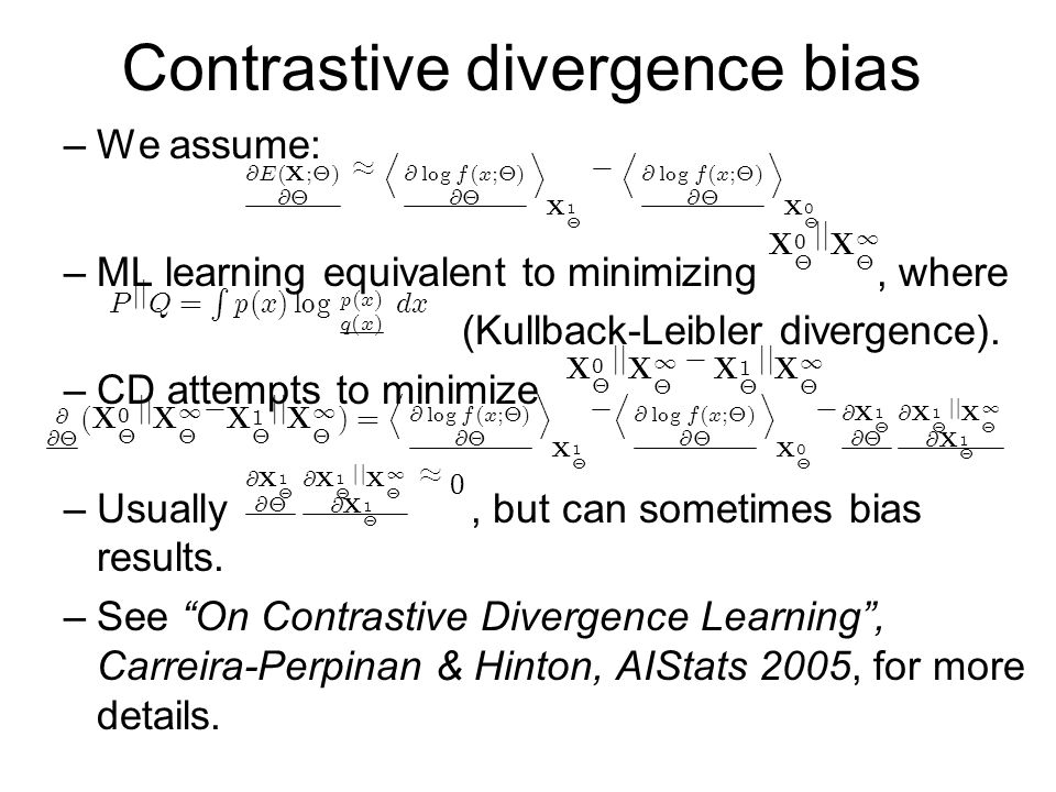 Contrastive divergence bias