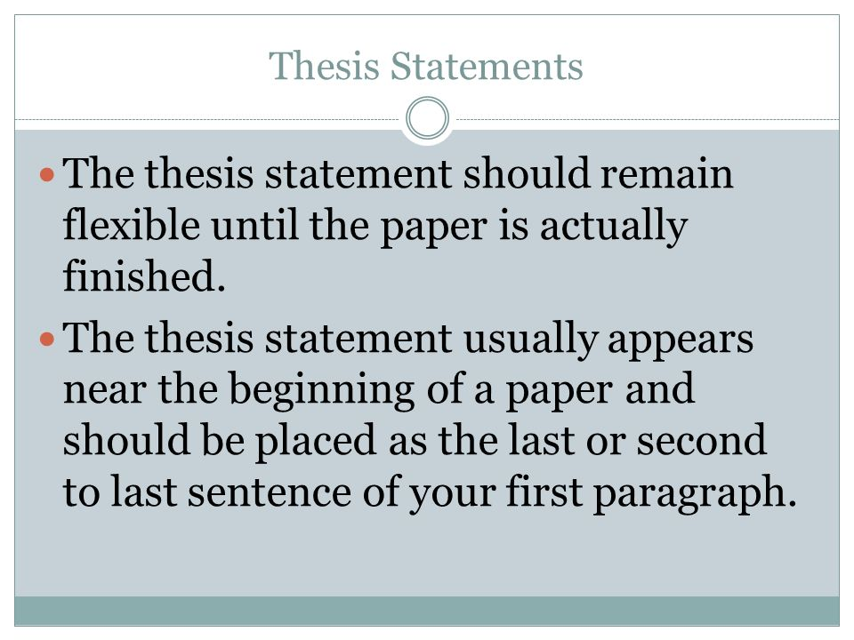 although actually thesis statement Your thesis statement should tell your reader what the paper is about and also help guide your writing and keep your argument focused revised thesis: although the timber wolf is actually a timid and gentle animal, it is being systematically exterminated because people wrongfully believe it to be a fierce and cold-blooded.