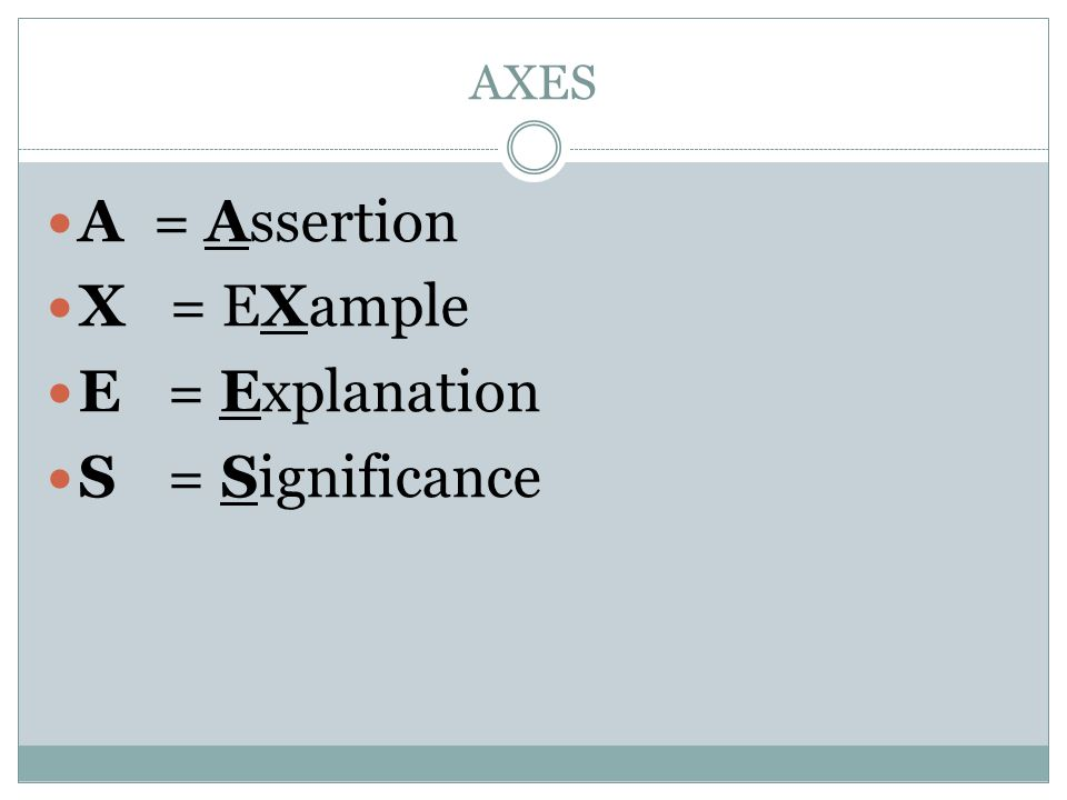 essay reminders ppt video online  7 axes a assertion x example e explanation s significance